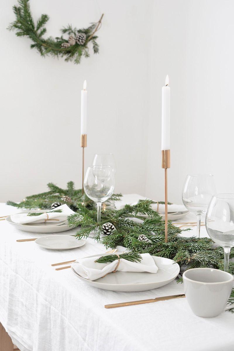 Mesa de Navidad en tonos neutros de estética sencilla y estilo Nórdico @Utrillanais
