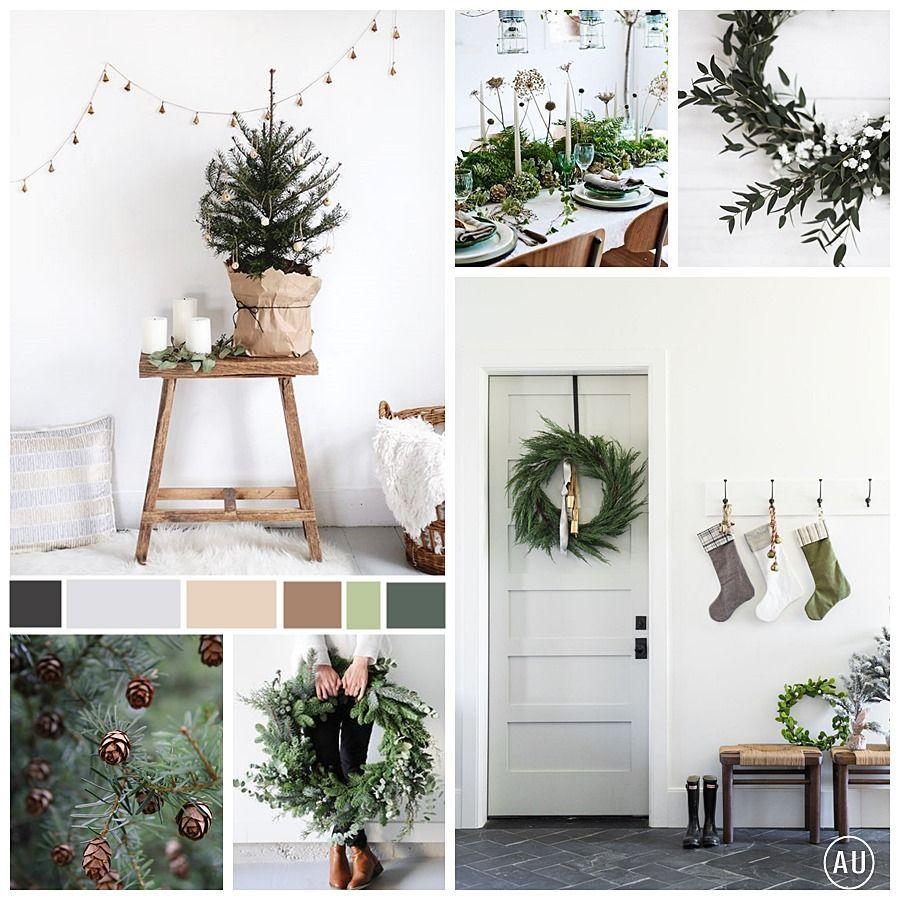 Mesas de Navidad de estilo escandi, sencillas y elegantes en tonos neutros @Utrillanais