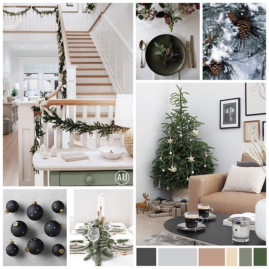 Navidad greenery moodboard con ideas para decorar tu casa con la Navidad de estilo Escandi @Utrillanais