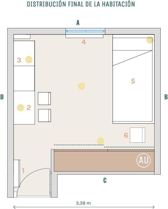 Proyecto de coaching deco en Madrid, habitación infantil para niño invidente de estilo nórdico más clásico por @Utrillanais