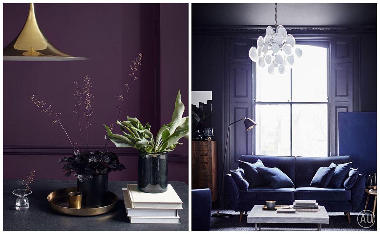 Ejemplos de salas de estar y cocina en tono ultra violet color pantone 2018 @Utrillanais