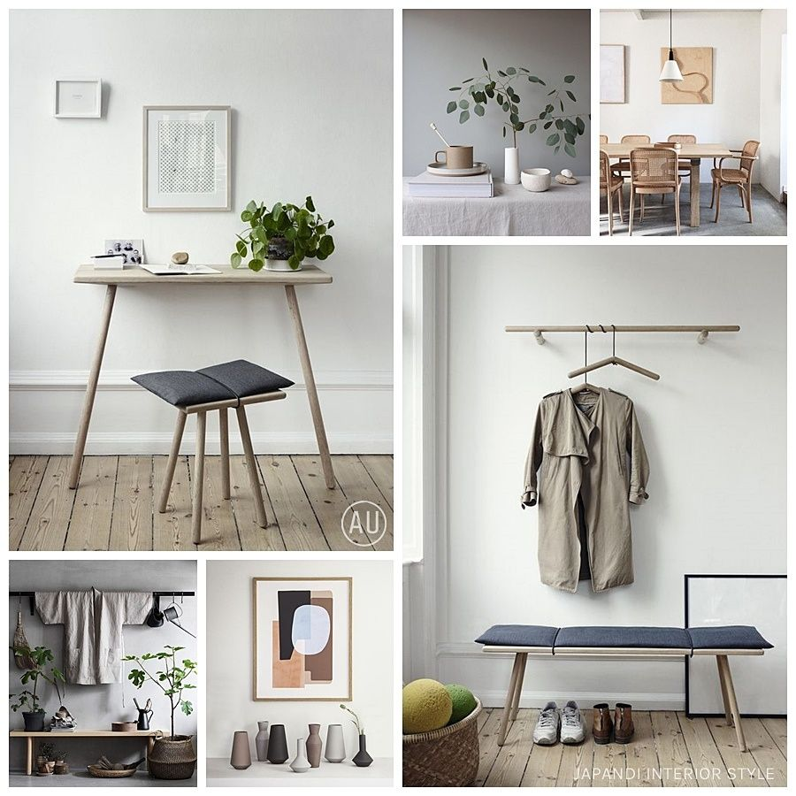 Decoración de interiores, mobiliario y accesorios de estilo japandi @Utrillanais