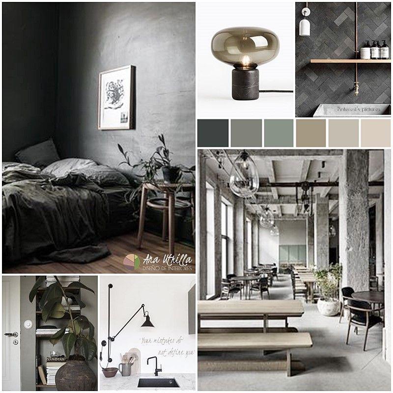 Moodboard de estilo wabi sabi, industrial y nórdico @Utrillanais