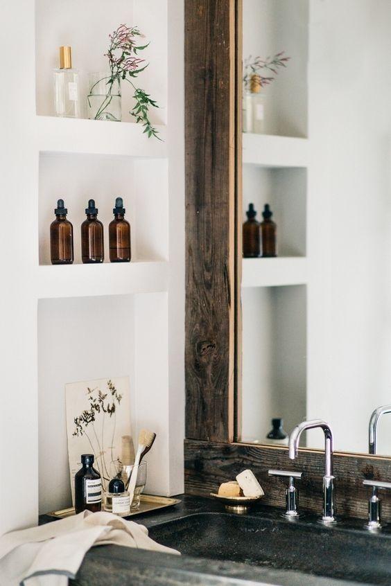 Detalles de almacenaje y decoración extra para diseñar tu baño @Utrillanais