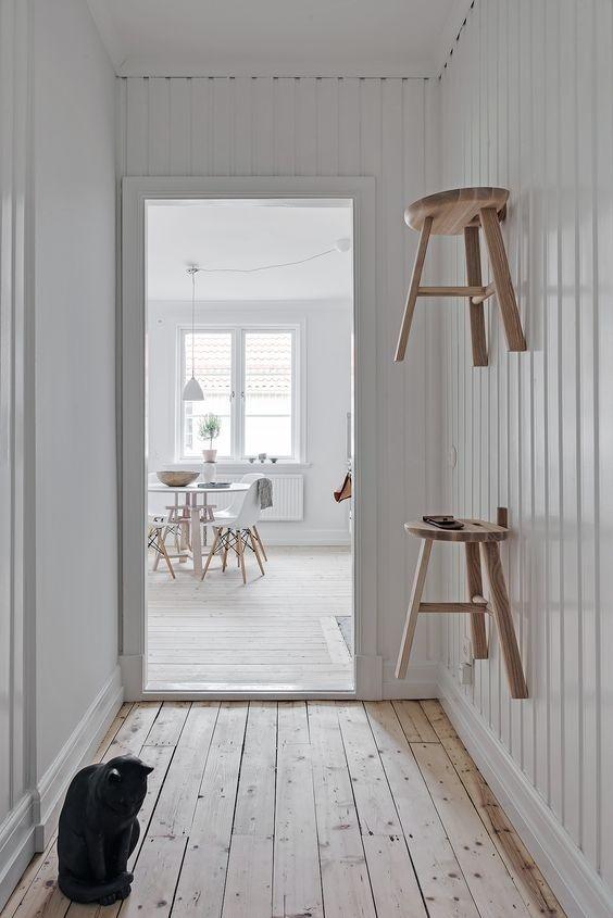 Decoración de interiores de estilo escandinavo con influencias shaker