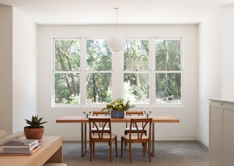 Comedor minimalista en madera de estilo shaker funcional y confortable @Utrillanais