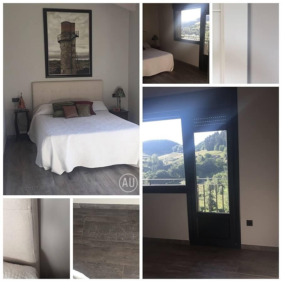 Proyecto de interiorismo residencial: deco coach en Vizcaya de habitación principal de estilo rústico industrial vintage