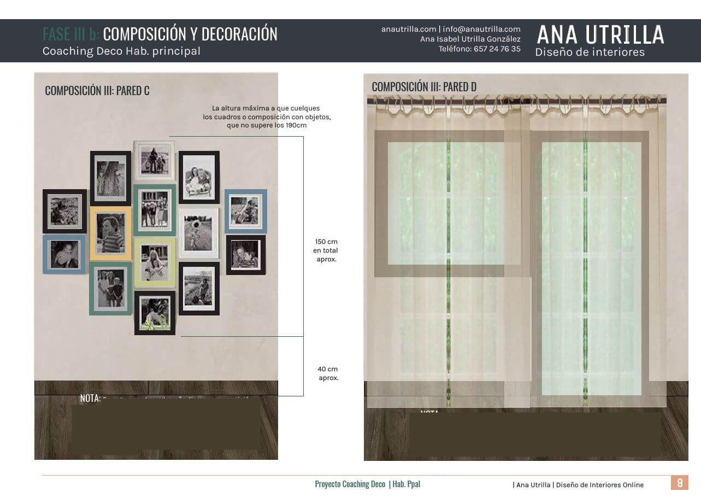 Propuesta de diseño e interioreriorismo en 2D online para habitación principal en Vizcaya, de estilo rústico-vintage. #AnaUtrillainteriorismoonline