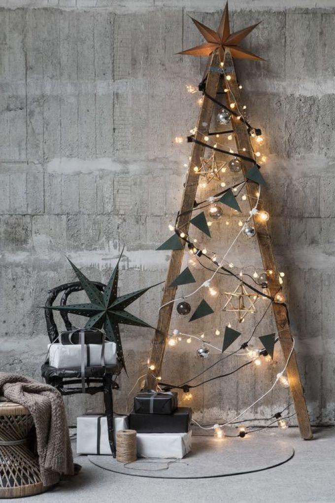 Árbol de Navidad de estilo nórdico kinfolk diy @Utrillanais
