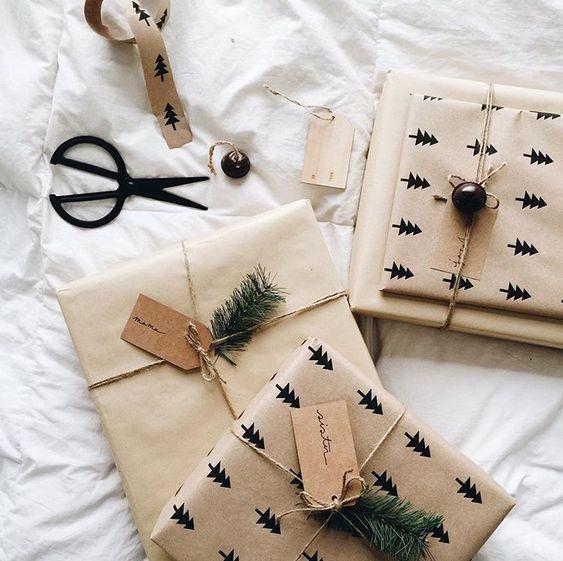 Papel de regalo DIY crea originales y únicos envoltorios para tus regalos y detalles de Navidad @Utrillanais