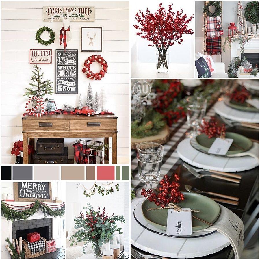 Decoración de Navidad tradicional paleta de colores rojos y verdes @Utrillanais