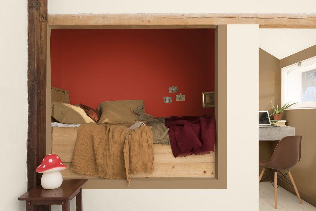 Habitación infantil en tonos terracota intenso paleta de colores para amar escogida por Color Future para interiorismo 2019 @Utirllanais