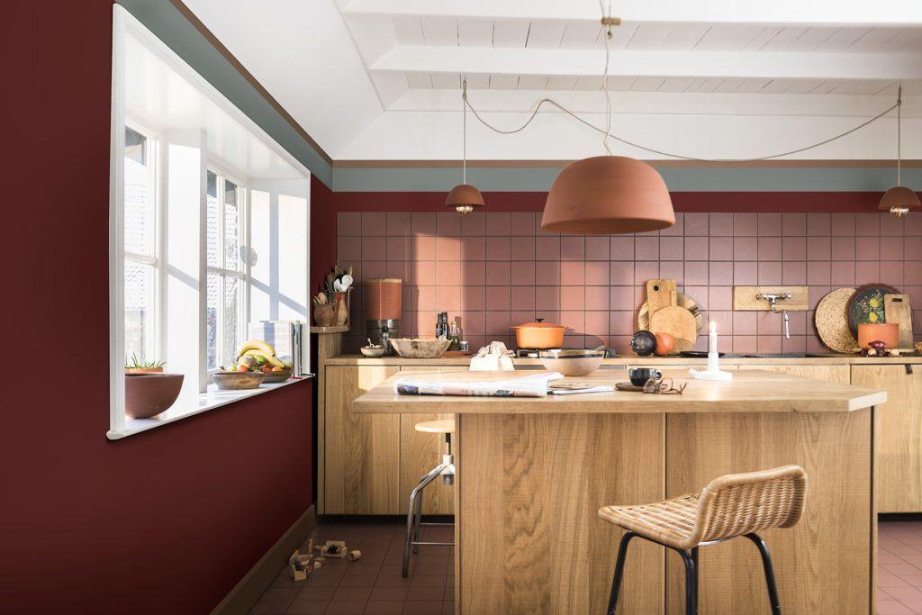 Cocina en tonos terracota intenso, colores escogidos por Color Future para 2019 en interiorismo @Utrillanais