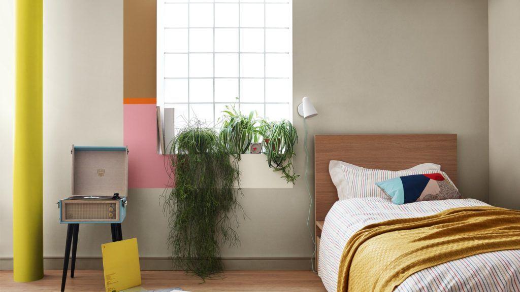 Decoración de interiores de habitación en colores en tendencia 2019 escogidos por Color Future para interiorismo @Utrillanais
