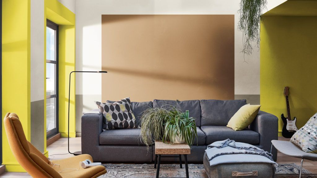Salón decorado con colores en tendencia 2019 escogidos para interiorismo por COlor Future @Utrillanais