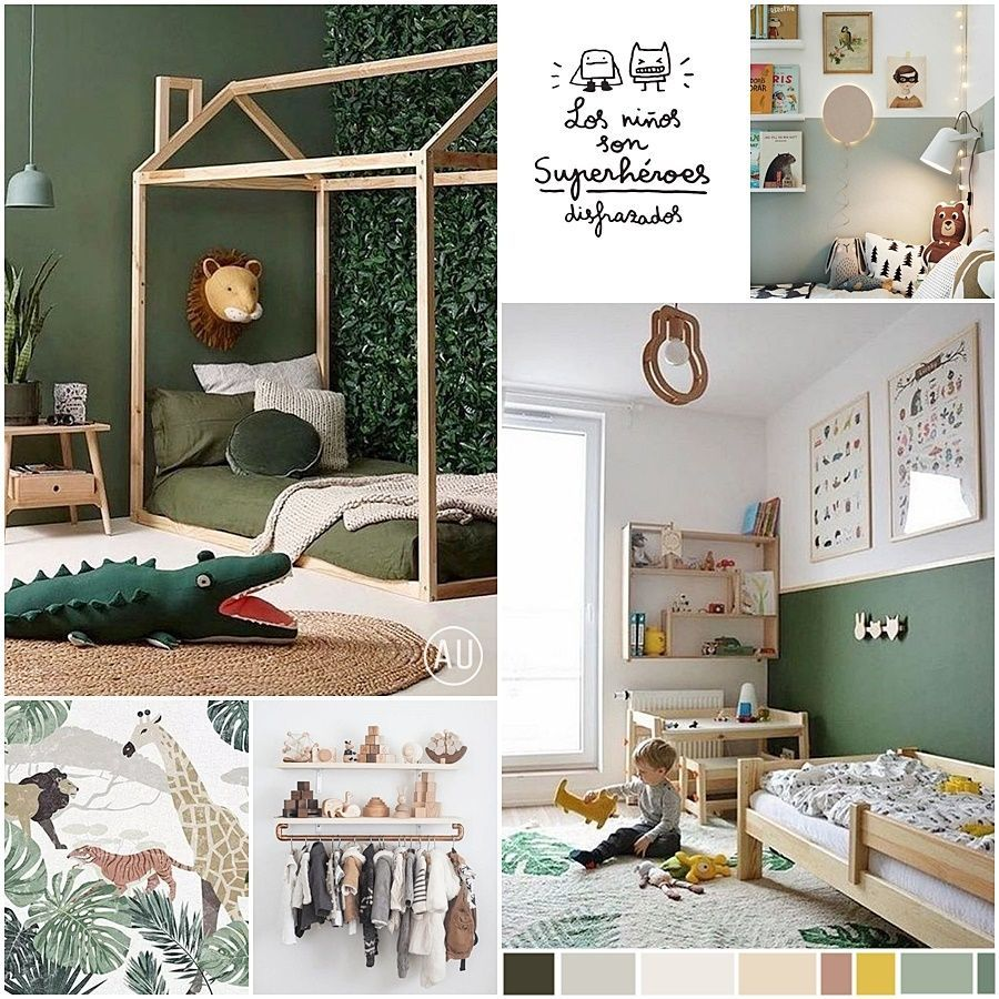 Moodboard de paleta de colores, materiales e imágenes de referencia para conocer el estilo que mejor va con la siguiente habitación infantil, proyecto de diseño e interiorismo en Alicante #Anautrillainteriorismo @utrillanais