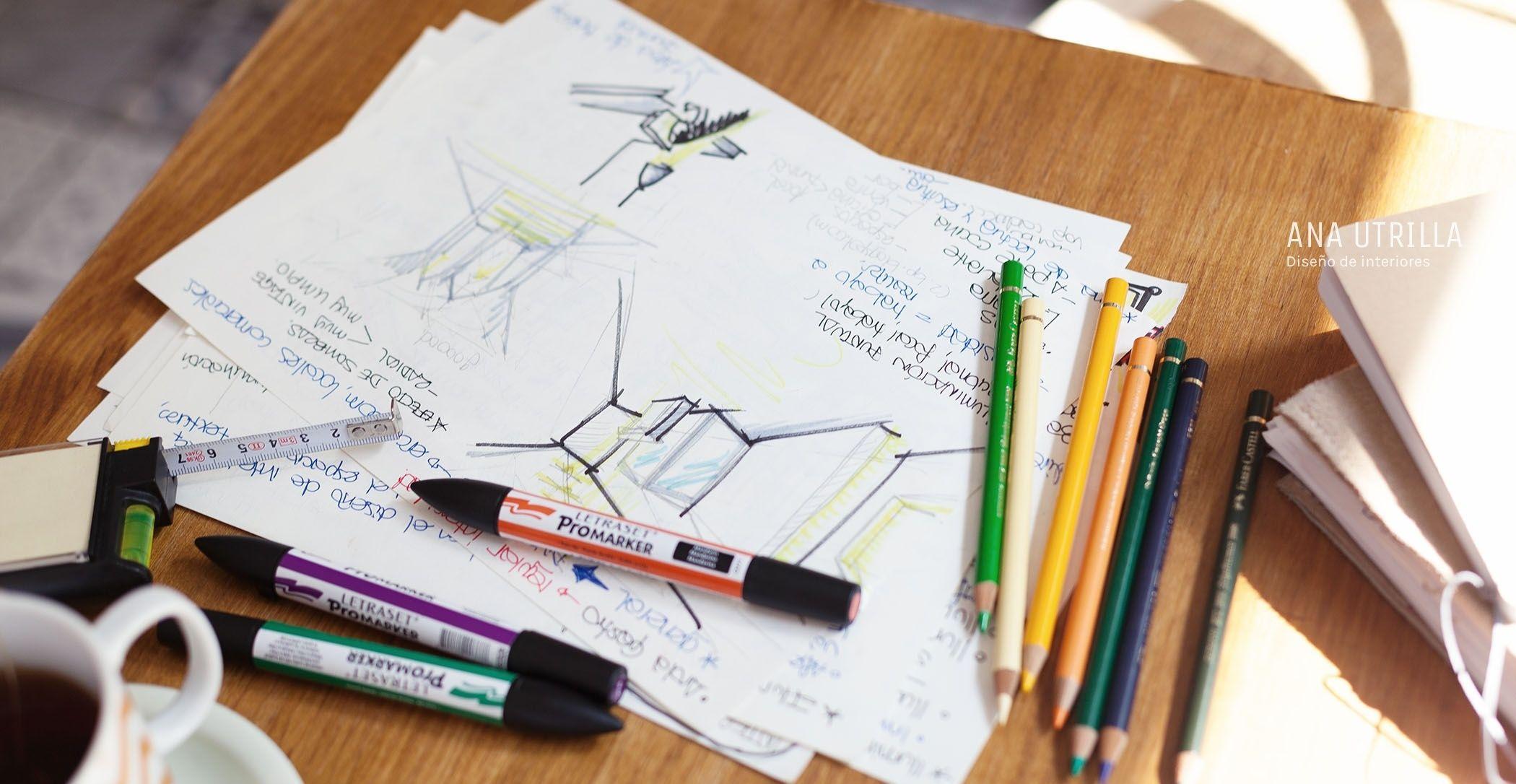 Proyectos de diseño de interiores para personas sin tiempo sobrepasadas con su reforma o decoración, Ana Utrilla interiorista online @Utrillanais