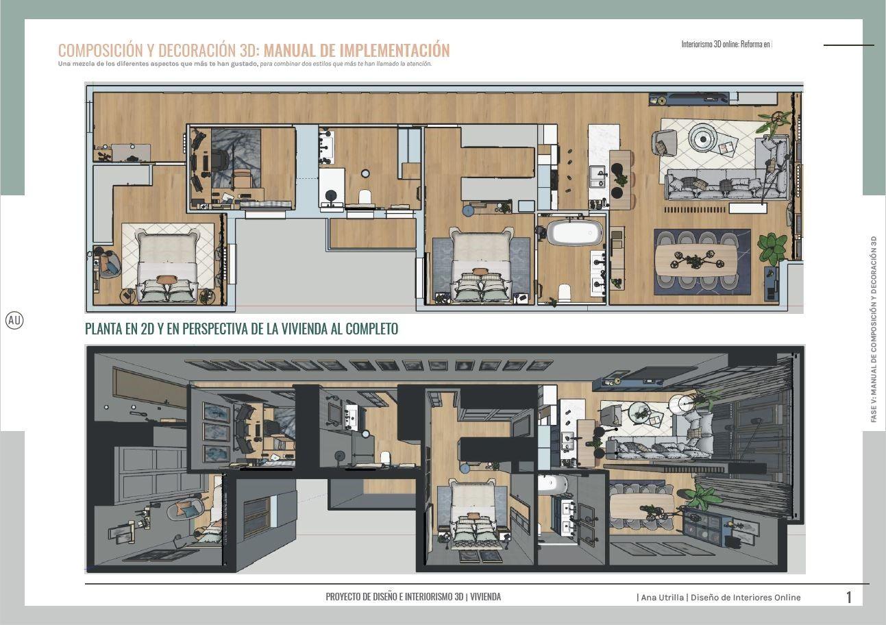 Proyecto de #Interiorismoydiseño para reforma integral en Valladolid de #estiloGentleman por #AnaUtrillaInteriorismo