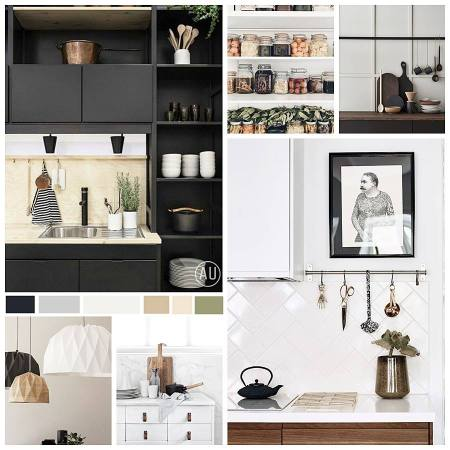 Moodboard, diseño e interiorismo para cocina en tonos neutros y estilo kinfolk, 10 razones por las que contratar a un interiorista para transformar tu casa en tu hogar #AnaUtrillaInteriorismo @Utrillanais