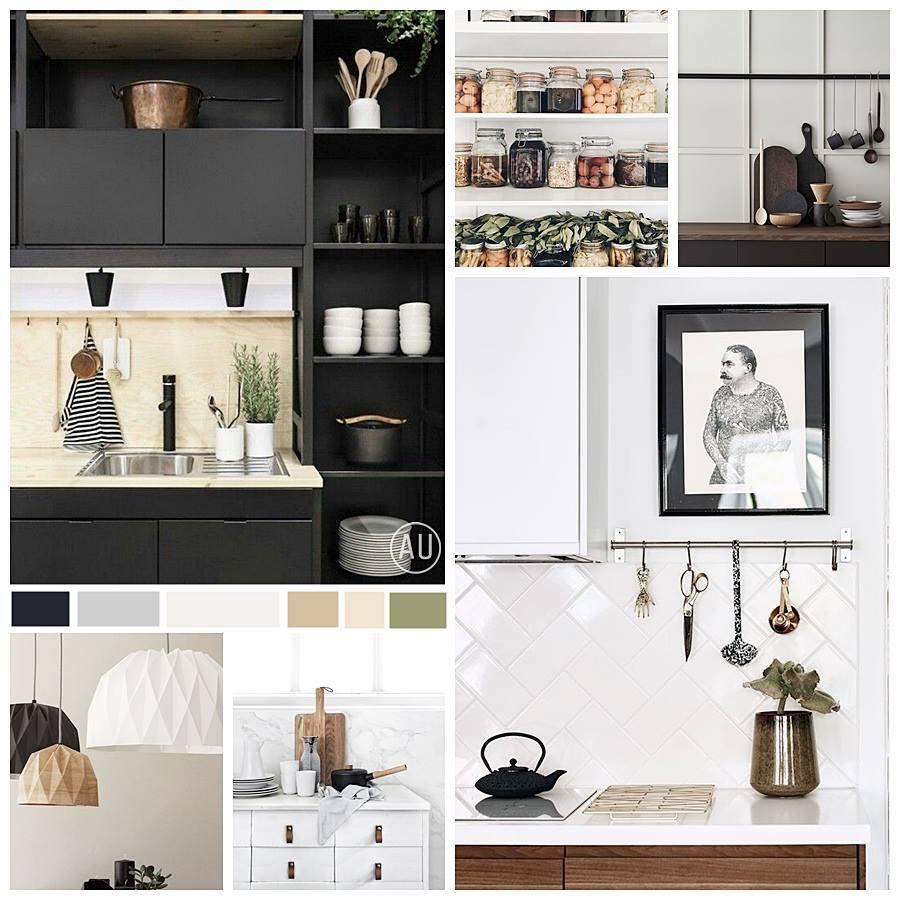 Moodboard, diseño e interiorismo para cocina en tonos neutros y estilo kinfolk, #AnaUtrillaInteriorismo @Utrillanais