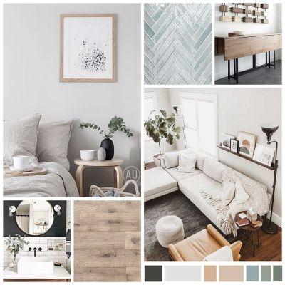 Moodboard de materiales, paleta de colores e imágenes escogidas para el manual de estilo decorativo que tendrá esta casa con encanto #Diseñoalojamientosrurales #Interiorismocasasconencanto #AnaUtrillainteriorismo @Utrillanais