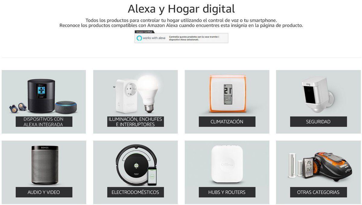 Alexa dispositivo AI por voz para controlar la iluminación, el hilo musical, la temperatura y dispositivos compatibles adyacentes, teniendo así un hogar más inteligente