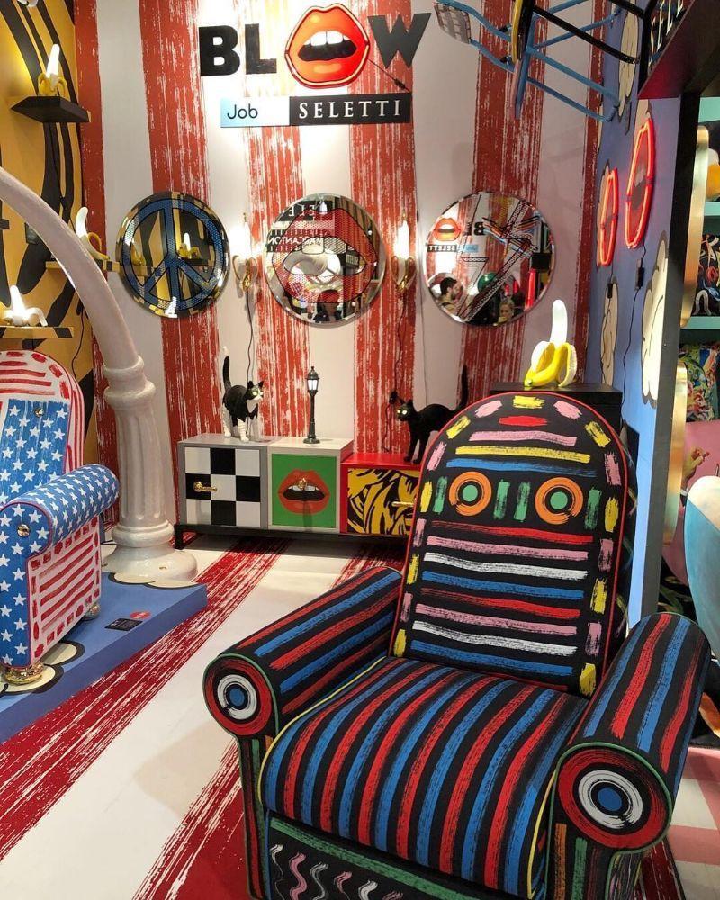 Espacio Seletti en la Feria del Mueble de Milán 2019, tendencias interiorismo 2020, estilo maximalista @Utrillanais