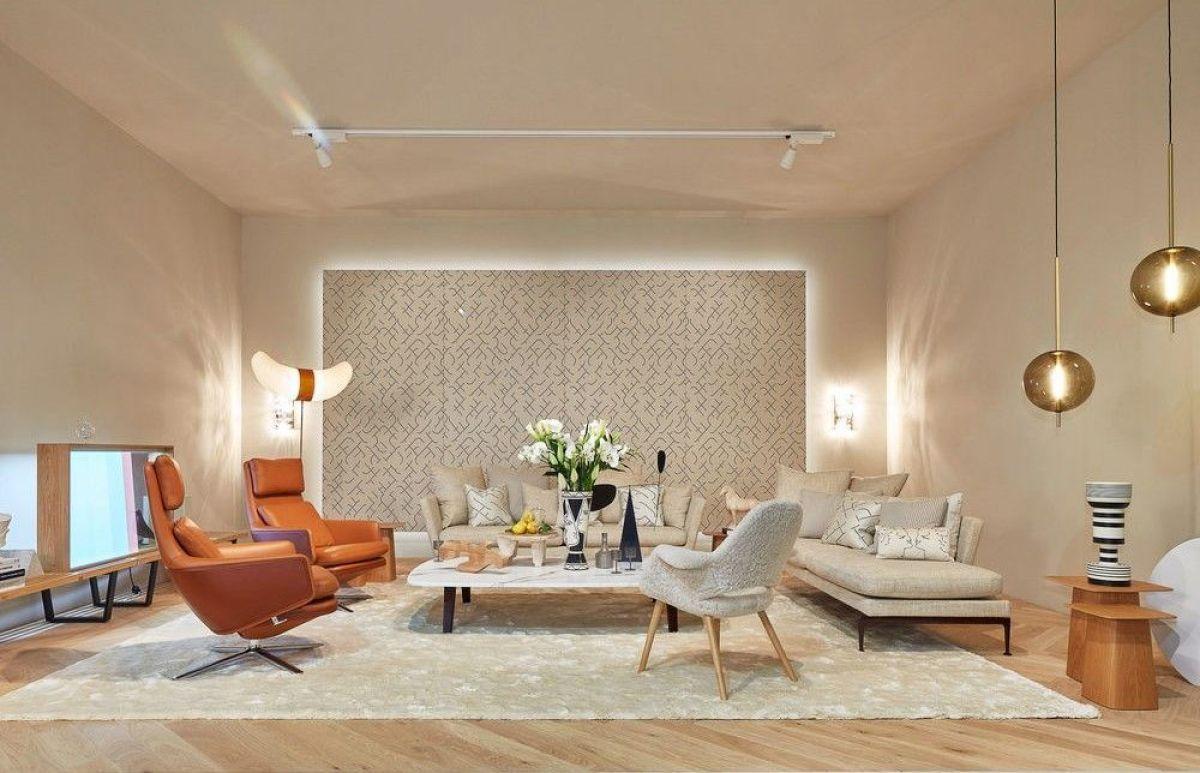 Espacios de hogar en tonos neutros como protagonistas, showroom de Vitra en el Salón del Mueble de Milán 2019, tendencias de diseño e interiorismo 2020 @Utrillanais