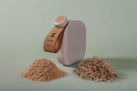 Diseño sostenible a partir de biomateriales, botella biodegradable de PriestmanGoode @Utrillanais