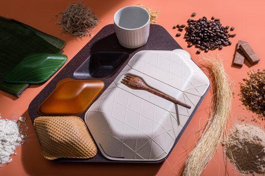 Diseño sostenible a partir de biomateriales, envases biodegradable de PriestmanGoode @Utrillanais