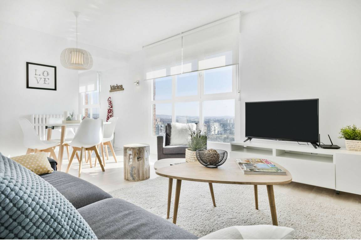 Salón-comedor de estilo nórdico contemporáneo, diseño e interiorismo como estrategia para multiplicar tus clientes en tu negocio de alojamiento rural #SlowTravel #TurismoRural #SlowInteriorDesign @Utrillanais