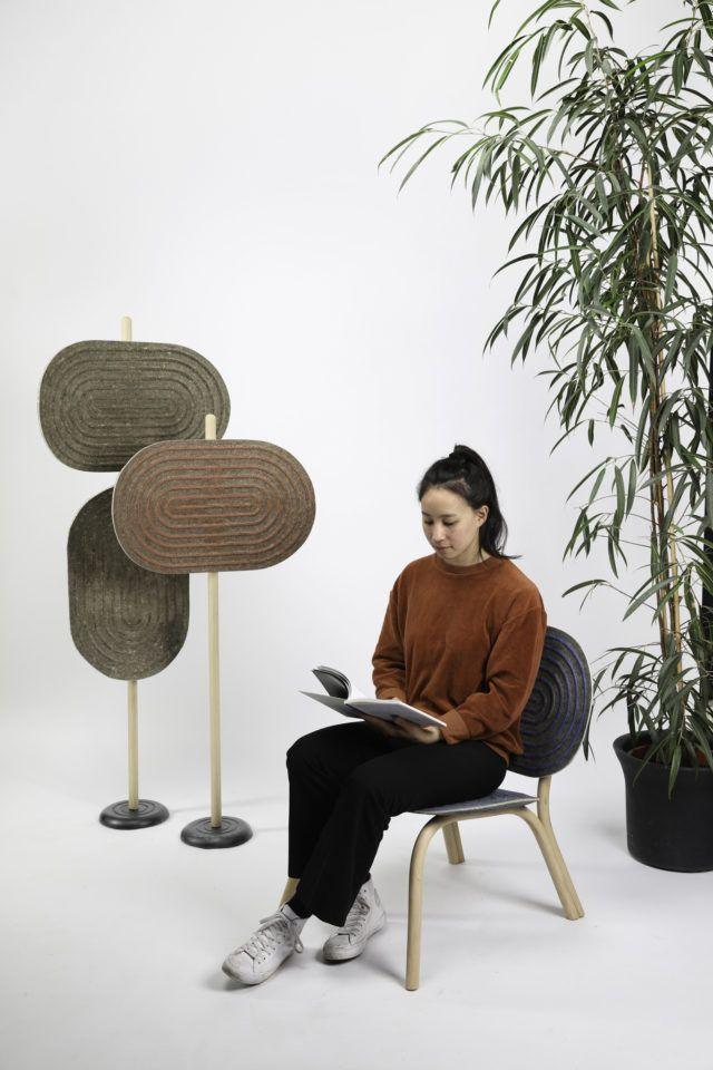 Mobiliario hecho a partir de biomateriales por Phillip Hainke, diseño sostenible tendencia interiorismo 2020 @Utrillanais
