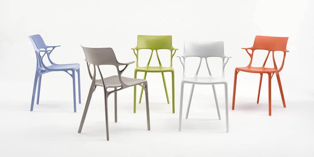 Primera silla concebida a través de la colaboración de Kartell, Phillipe Starck y AutoDesk