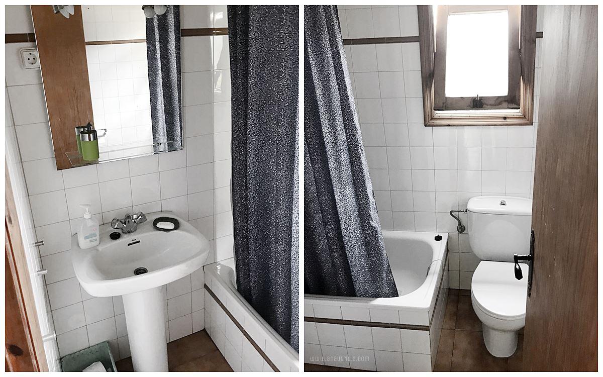 Antes de diseño de interiores de casa rural con encanto en Santander, espacio de baño #Slowinteriordesign #Diseñodeinterioresonline #AnaUtrillainteriorismo @Utrillanais