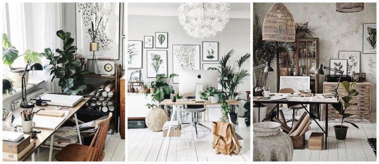 Ejemplos de espacios de trabajo en casa, como hacer una oficina en casa, Margo Hupert.