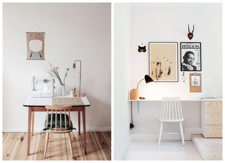 Espacios de taller y oficina en casa, de estilo nórdico en tonos neutros #homeoffice #anautrillainteriorismo @utrillanais