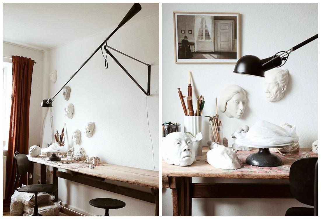 Taller de artesanos en casa @katrinelaoru, de estilo kinfolk, industrial en tonos neutros. @utrillanais