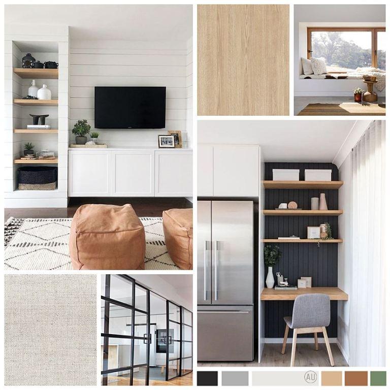 Deco moodboard de proyecto de interiorismo en 2D online, para reforma de casa familiar en Ávila, de estilo nórdico-industrial #AnaUtrillainteriorismoonline #anautrillainterioristaonline
