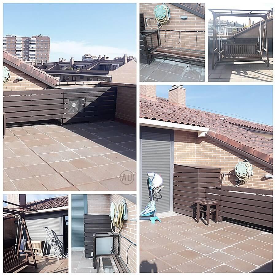 Estado actual de su terraza, es decir, fotografías antes de proyecto de interiorismo en 2D a medida, para esta terraza en Zaragoza. #AnaUtrilla #Interiorismoonline