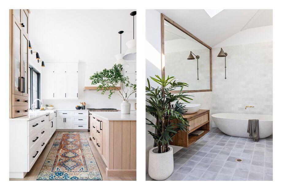 Espacio de cocina y baño, de estilo rústico farm house modernoComo evitar que tu espacio neutro parezca soso, con estos consejos de interiorismo eficaces. #AnaUtrilla #Interiorismoonline