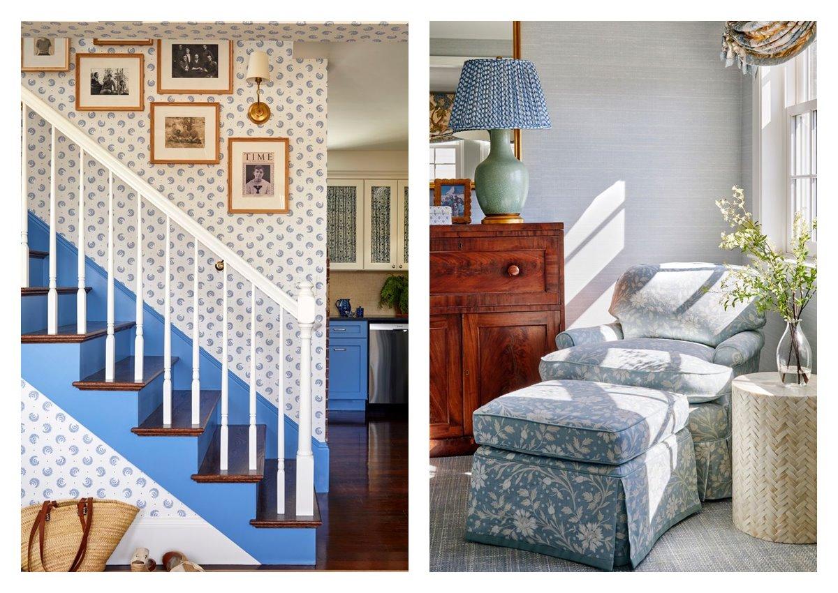 Decoración de interiores de estilo Grandmillennial, tendencia en interiorismo 2021. Donde combinar elementos característicos de la casa de la abuela, estampados llamativos, florales, con accesorios vintage. #AnaUtrilla #interioristaonline