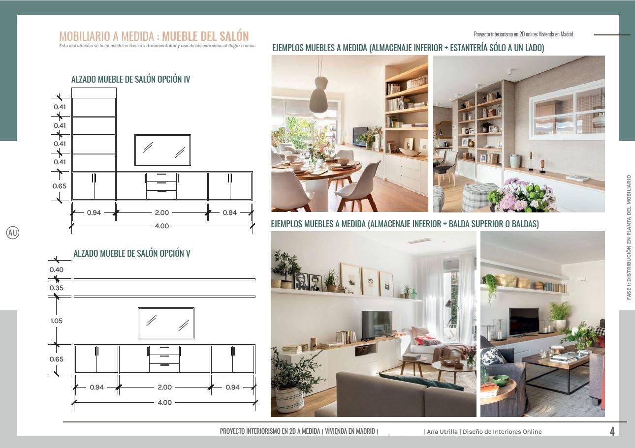 Alternativas de mueble de salón a medida, para ampliar almacenaje de la zona de estar, a través de armarios bajos y estanterías. #AnaUtrillainterioristaonline