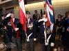 ANAVETS B.C. Command Colour Guard: L-R:, Piper James Thibault, Bob Rietveld, Peter Pasaen & Hazel Knight