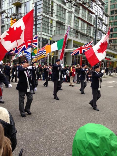 St Patricks Day Parade 2015 Vancouver Colour Guard Party