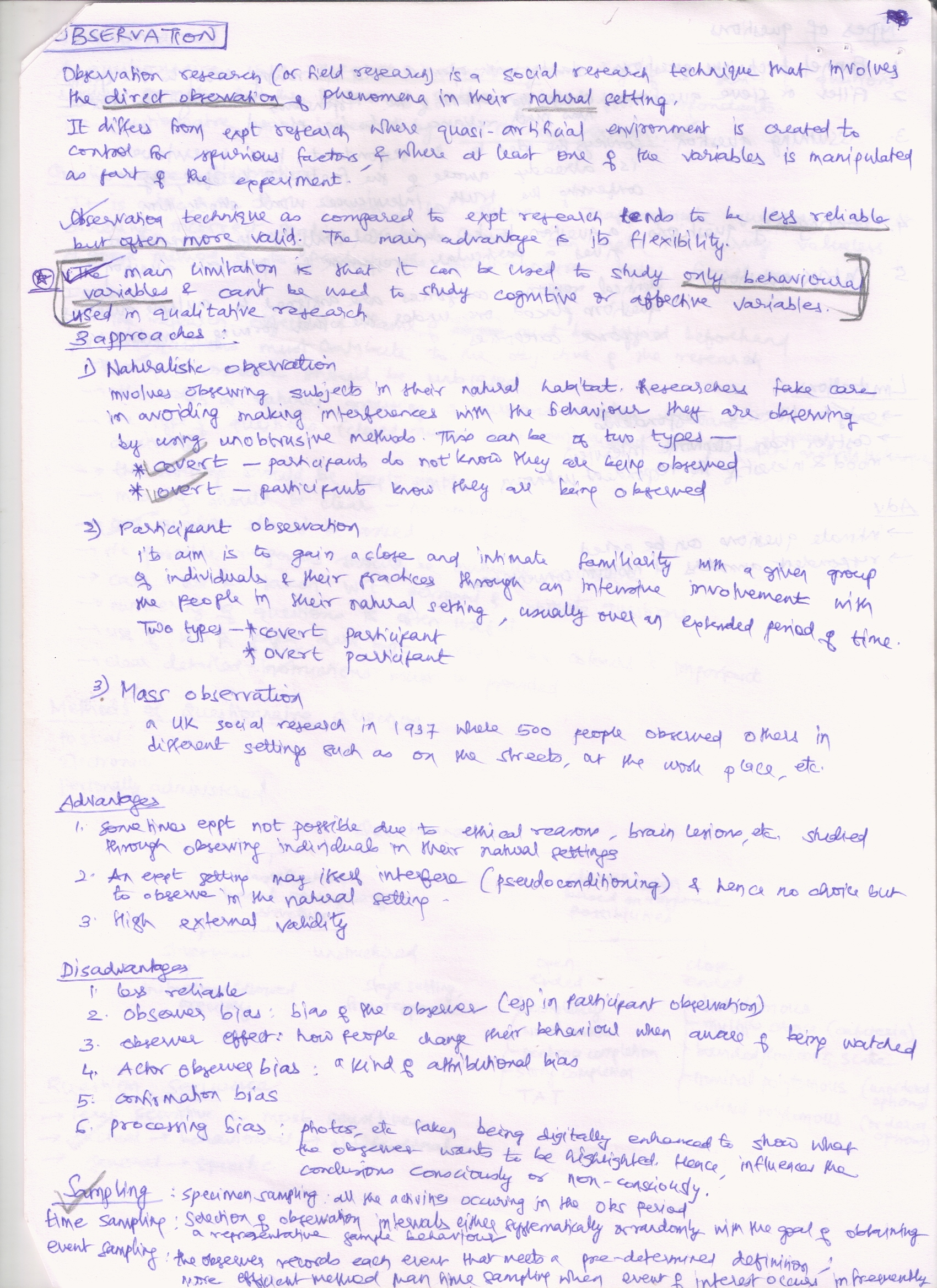 Observation Research Paper Topics