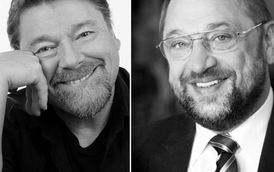 Jürgen von der Lippe und Martin Schulz sind bekennende Pinipafans.