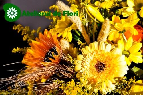 Aranjament cu flori de vara