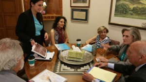 ANCA WR, local community members from New Mexico Meet with Senate President Pro Tempore Mary Kay Papen and her staff.