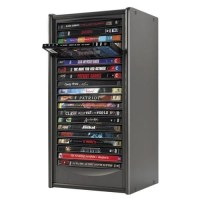 Compucessory DVD Storage Rack Tower, One Touch, Holds 20