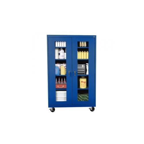 Sandusky Mobile Clearview Storage Cabinet Blue